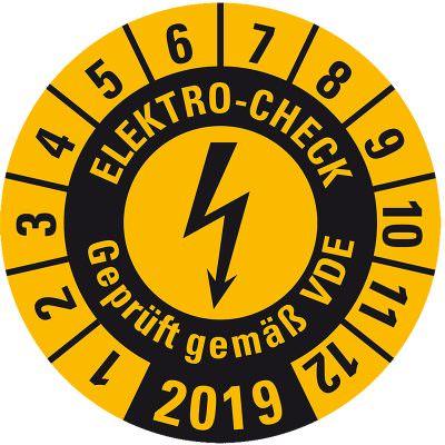 Elektro-Check / E-Check Prüfplakette